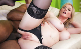 Severe Anal Pounding by BBC Satisfies this Old Lady