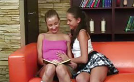 Naughty Schoolgirl Suggests a Better Fun than Learning for her Classmate